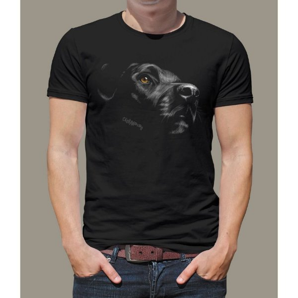 Camiseta Labrador Retriever Preto