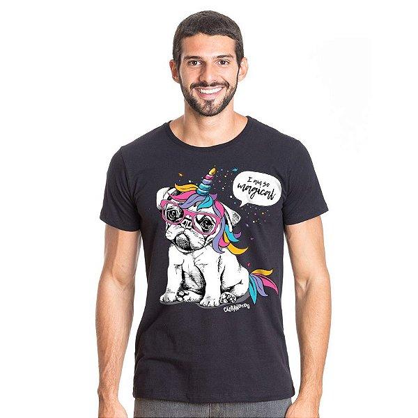 Camiseta Bulldog Francês Unicórnio - I am So Magical