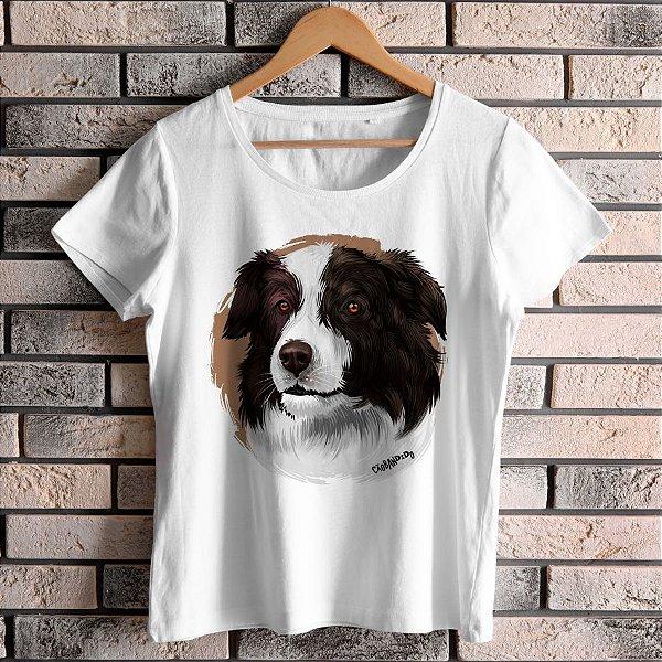 Camiseta Baby Look Border Collie