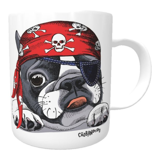 Caneca Bulldog Francês Pirata