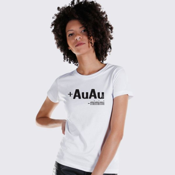 Camiseta Baby Look Mais AuAu e Menos Mimimi