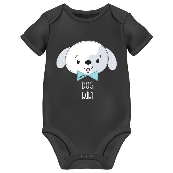 Body Bebê Dog Baby - Preto