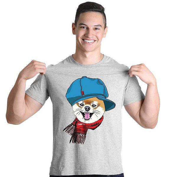 Camiseta Spitz Alemão de Boina e Cachecol