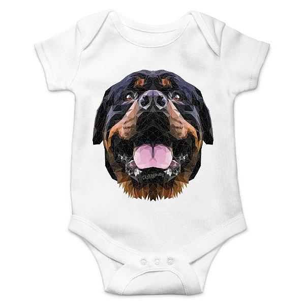 Body Bebê Rottweiler - Branco