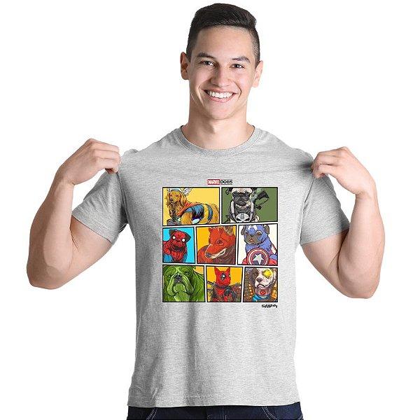 Camiseta Marvel Dogs Super Heróis