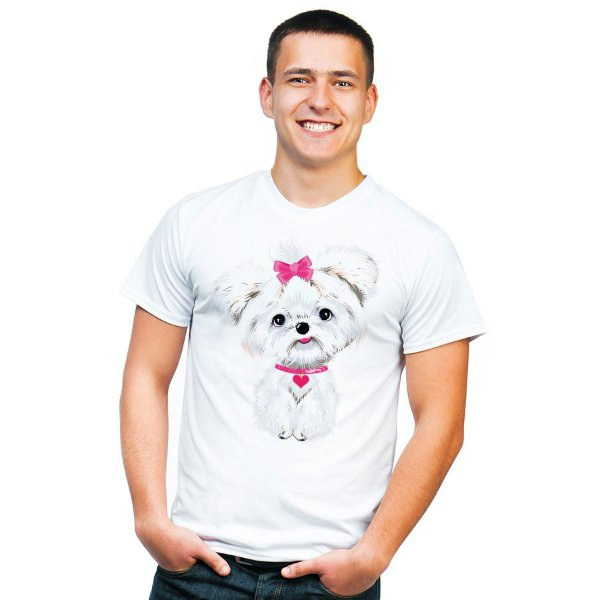 Camiseta Maltês de Lacinho