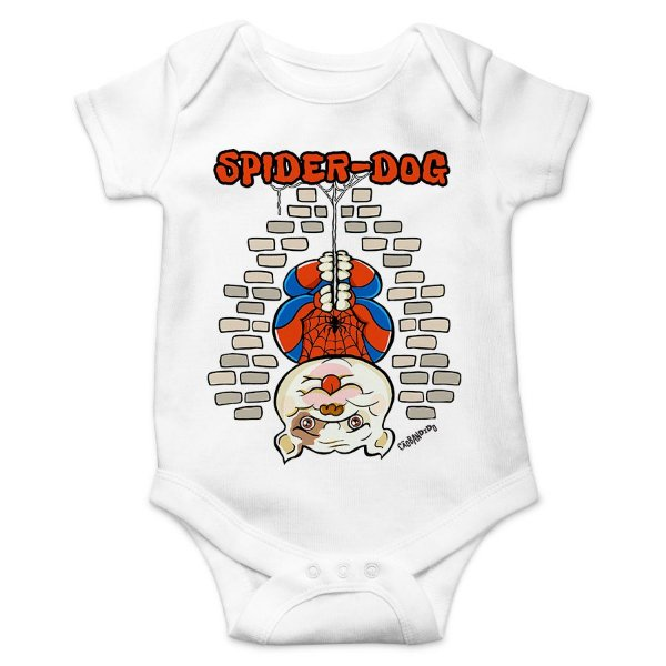 Body Bebê Spider-Dog - Branco