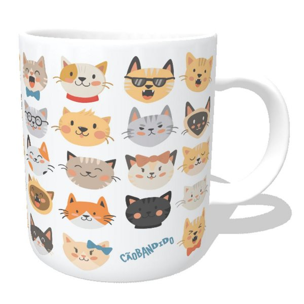 Caneca Cats Emoticons