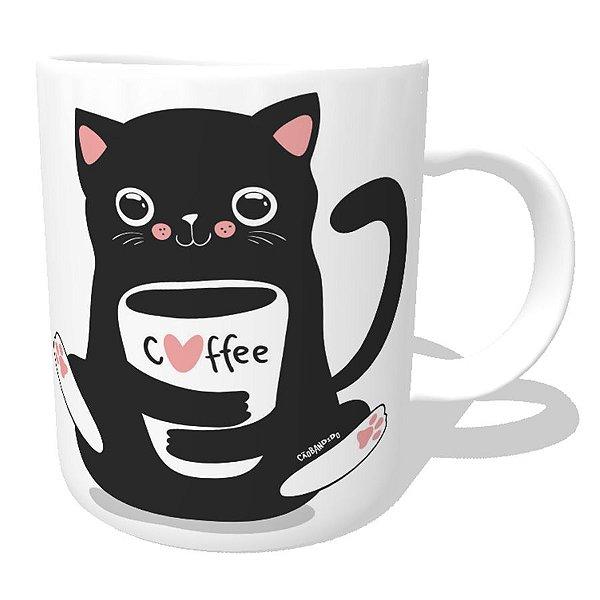 Caneca Gato Preto Café