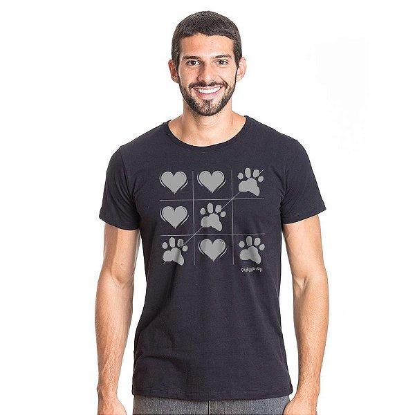 Camiseta Cachorro Jogo da Velha