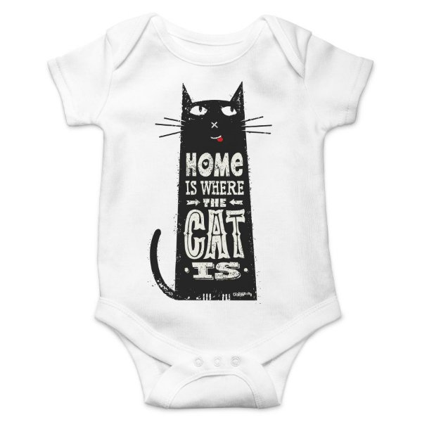 Body Bebê Home Is Where The Cat Is