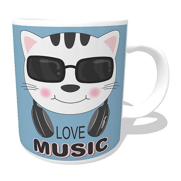 Caneca Gato Love Music
