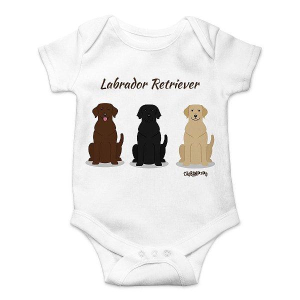 Body Bebê Labrador Todas as Cores