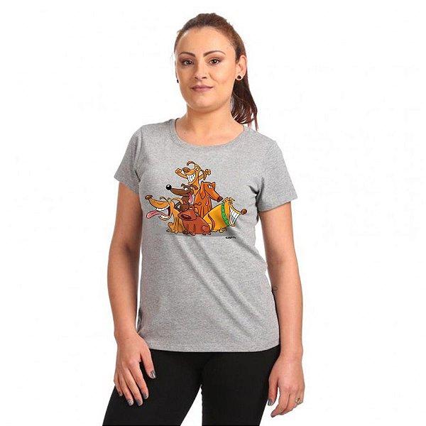 Camiseta Baby Look Vira Lata Cachorrada