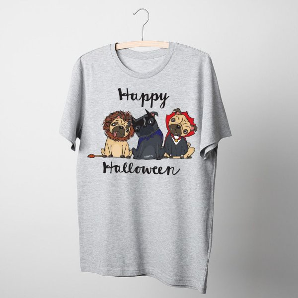 Camiseta Cachorro Happy Halloween