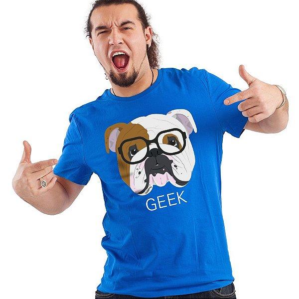 Camiseta Bulldog Inglês Geek