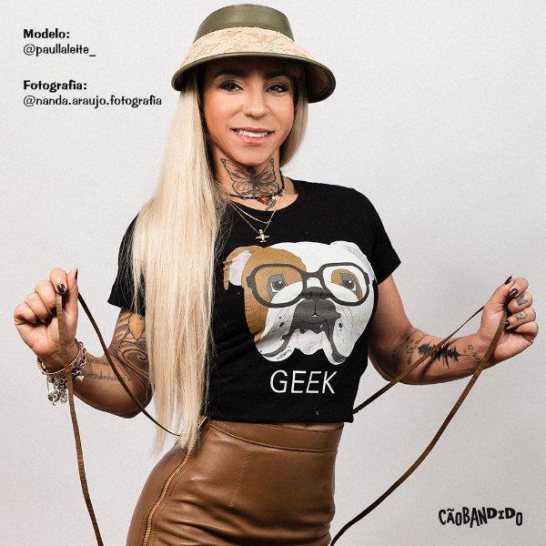 Camiseta Baby Look Bulldog Inglês Geek