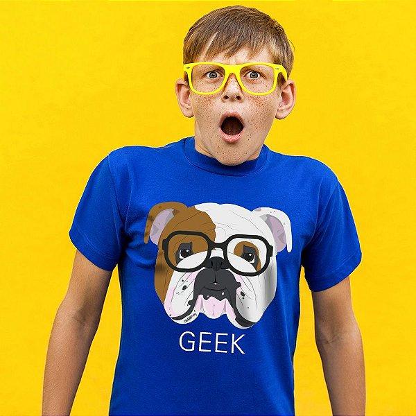Camiseta Infantil Bulldog Inglês Geek