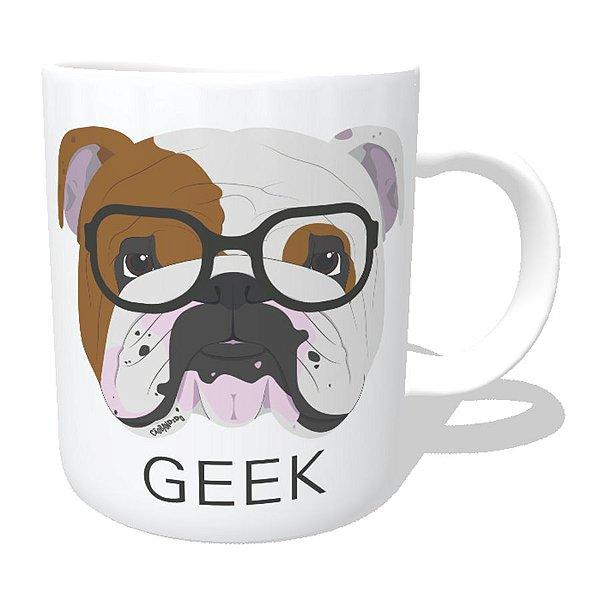 Caneca Bulldog Inglês Geek