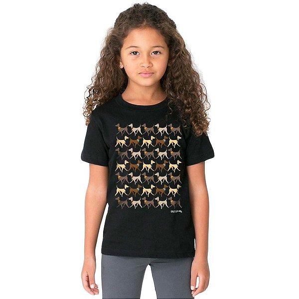 Camiseta Infantil Galgo Italiano Caminhando