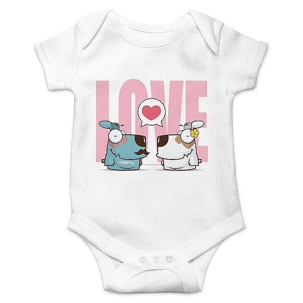 Body Bebê Cachorro Casal Love