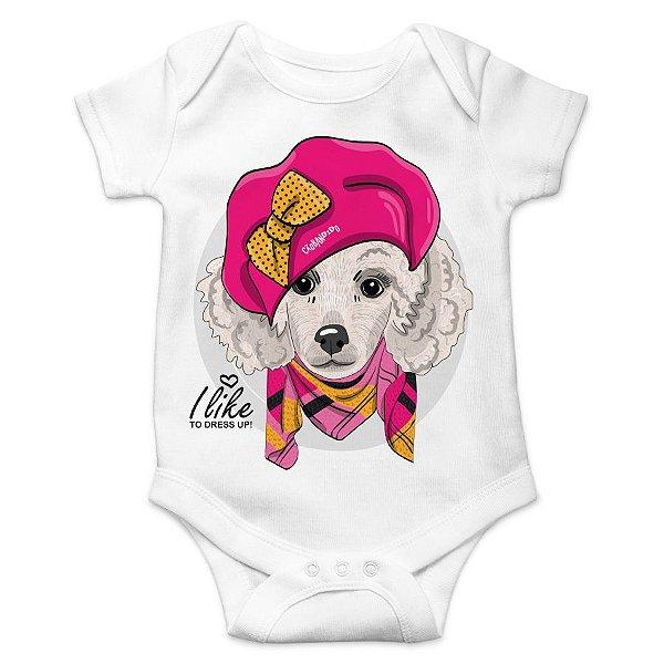 Body Bebê Poodle Fêmea I Like To Dress Up