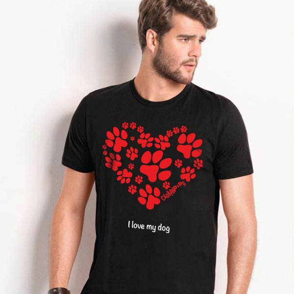 Camiseta Cachorro I Love My Dog