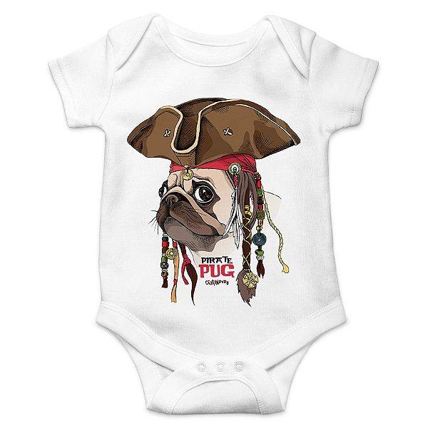 Body Bebê Pug Pirata