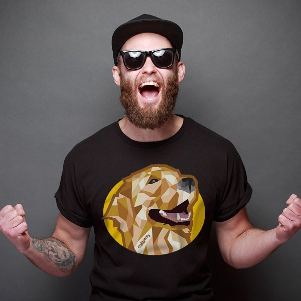 Camiseta Golden Retriever Mosaico Guth Dog