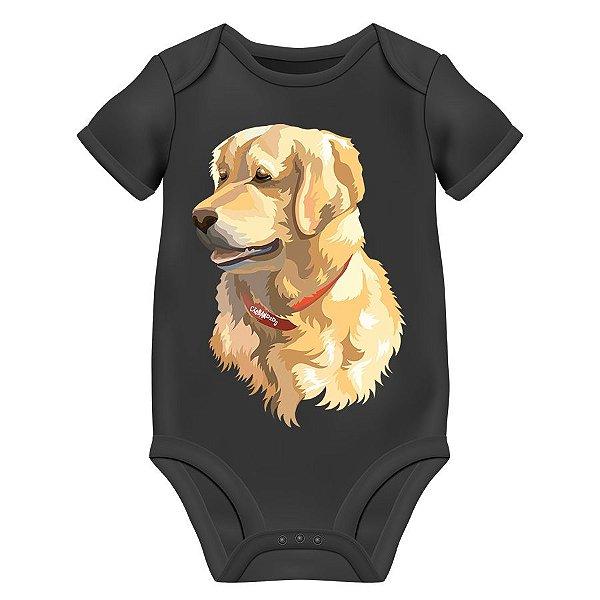 Body Bebê Golden Retriever - Preto