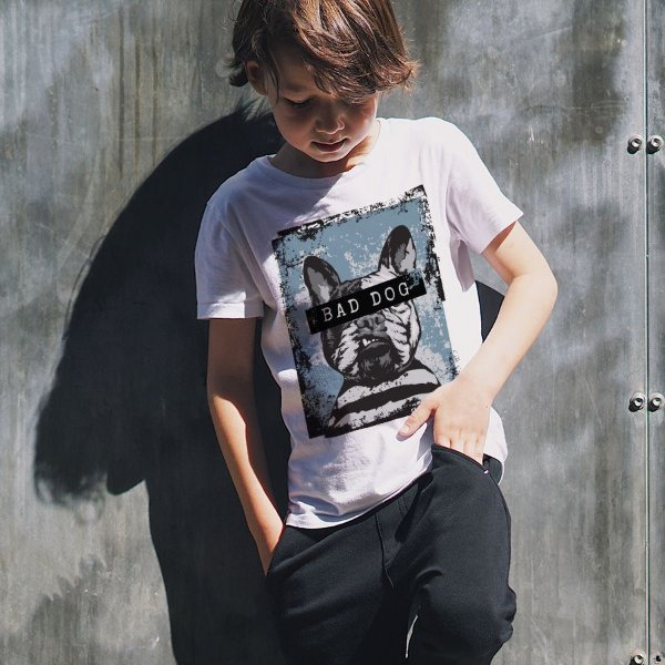 Camiseta Infantil Bad Dog