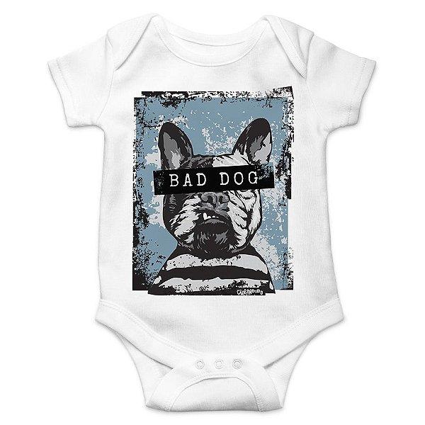 Body Bebê Bad Dog - Branco