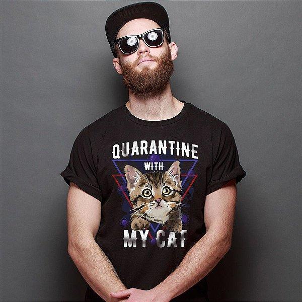Camiseta Quarantine With My Cat