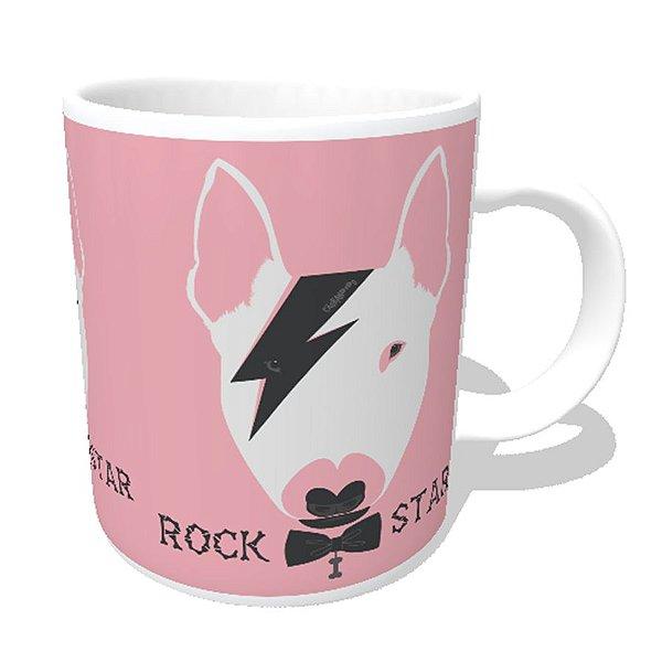 Caneca Bull Terrier Rock Star