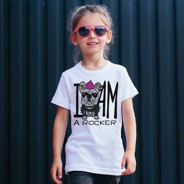 Camiseta Infantil I Am a Rocker