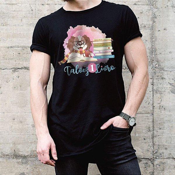 Camiseta Talvez 1 Livro - Books and Dogs