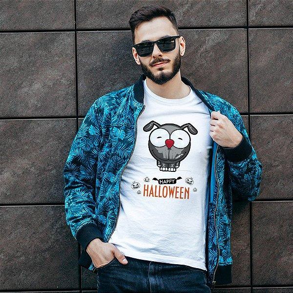 Camiseta Happy Halloween Cartoon Doggy