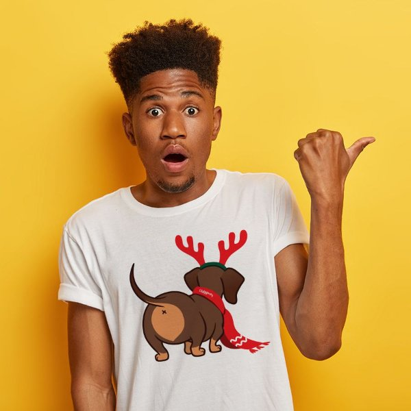 Camiseta Dachshund Natal