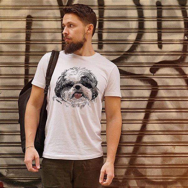 Camiseta Shih Tzu Pintura Digital