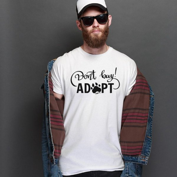 Camiseta Don't Buy, Adopt!