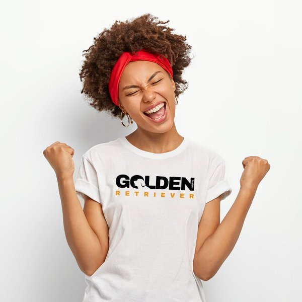 Camiseta Baby Look Golden Retriever Logotipo
