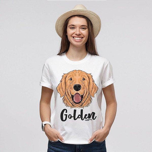 Camiseta Baby Look Cachorro Golden