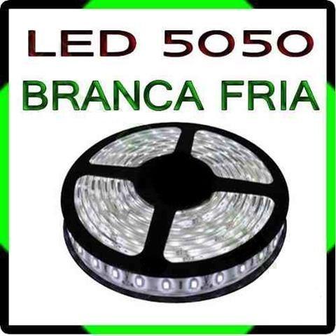 Fita Led 5050 Branca Rolo 5m Siliconada Dupla Face 300 Leds (Somente o Rolo / Sem Fonte)