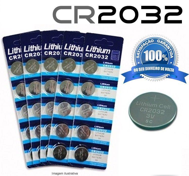 Bateria Cr2032 3v Lithium Cartela 5 Unidades, Relógios, Calculadoras, Placa Mãe, Computadores, Etc