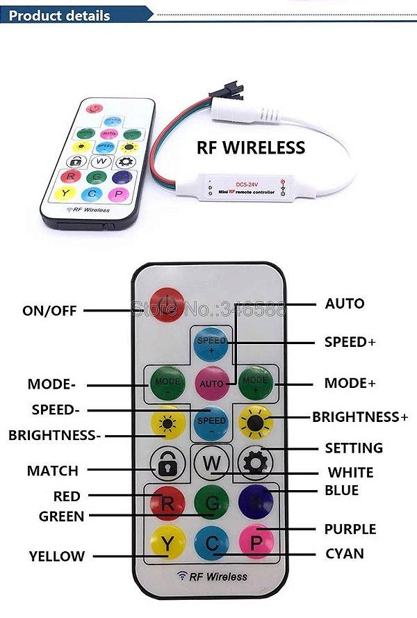 Controladora SP104e 2.048 Pixels 5-24v Para Fita Led Rgb Digital Endereçável Ws2811, 2812b, Etc.