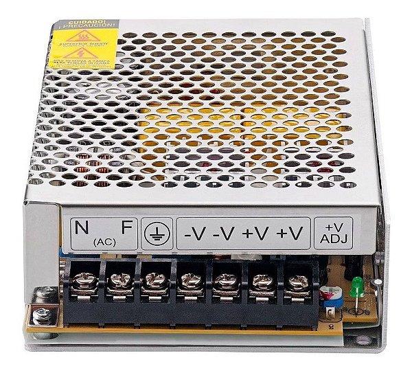 Fonte Chaveada 12v 10a 120w Para Cftv, Fita Led, Som Automotivo, Aparelhos Eletrônicos, Carregadores, etc.