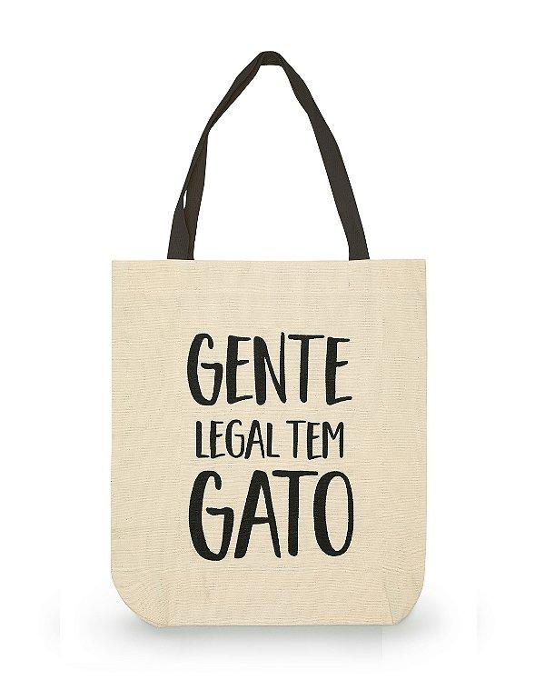 Ecobag Gente Legal Tem Gato