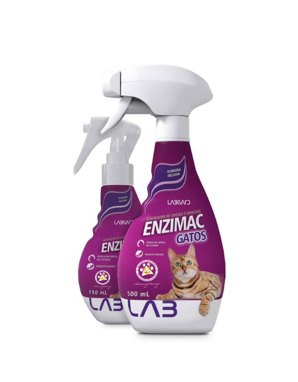 Enzimac Gatos | Eliminador de Odores e Manchas