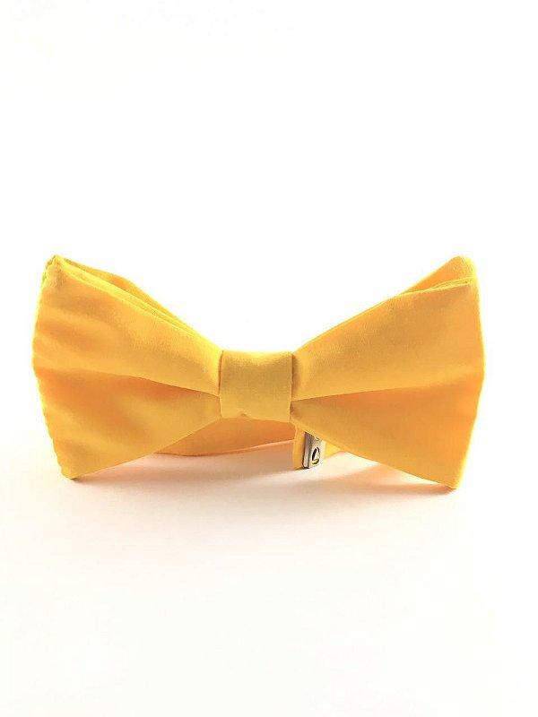 Gravata Tricoline Amarela