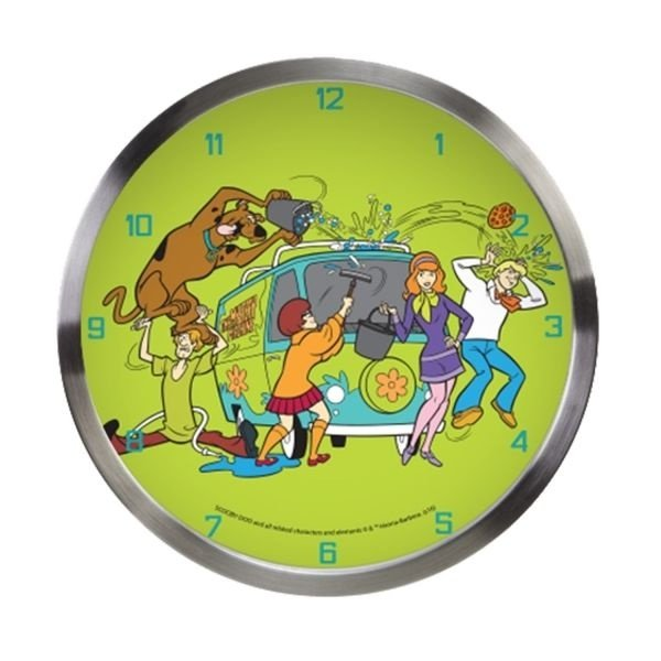 RELOGIO PAREDE ALUMINIO HB SCOOBY ALL CLEANING THE MISTERY MACHINE